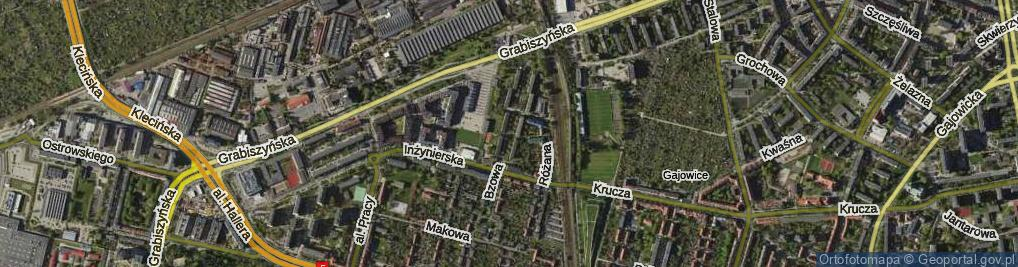 Zdjęcie satelitarne Bzowa