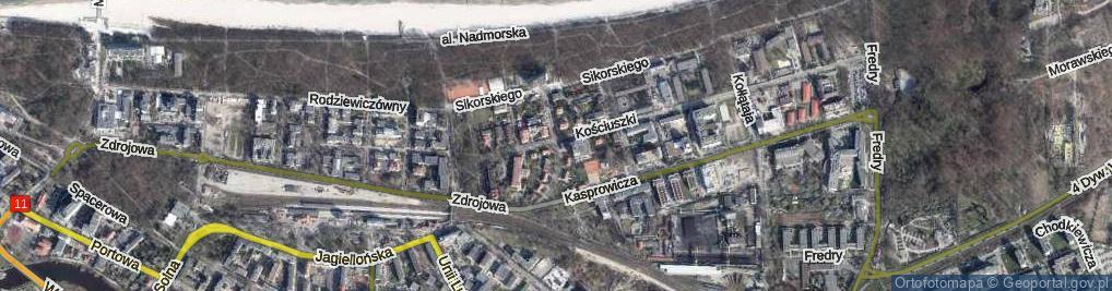 Zdjęcie satelitarne Chopina Fryderyka