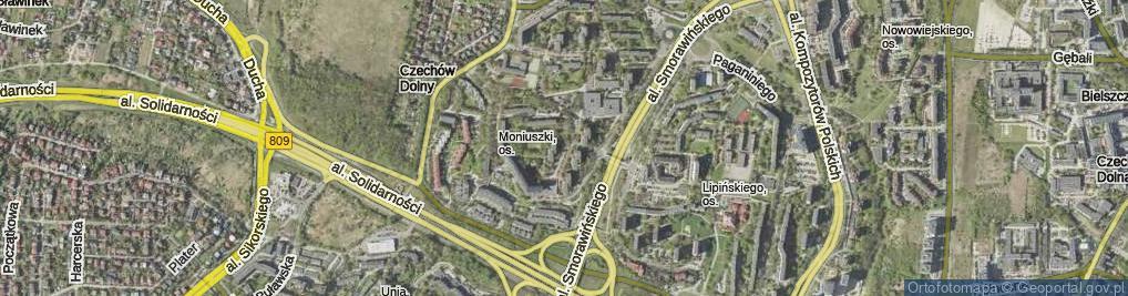 Zdjęcie satelitarne Chęcińskiego Jana