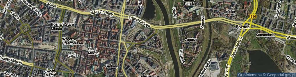 Zdjęcie satelitarne Chwaliszewo
