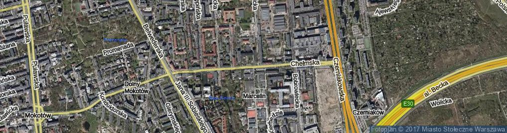 Zdjęcie satelitarne Chełmska ul.