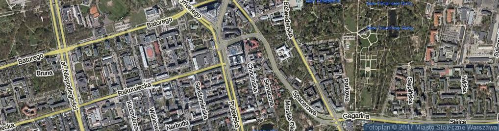 Zdjęcie satelitarne Chocimska