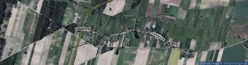 Zdjęcie satelitarne Cieleśnica ul.