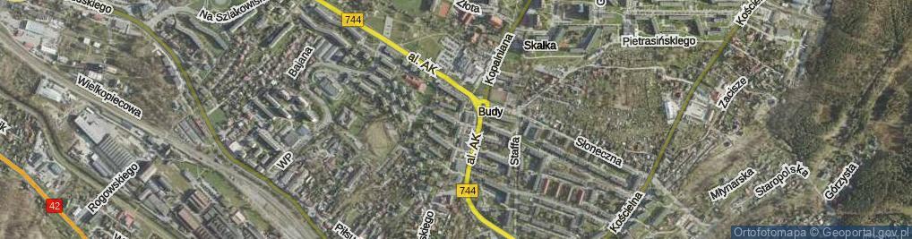 Zdjęcie satelitarne Czerwonego Krzyża ul.