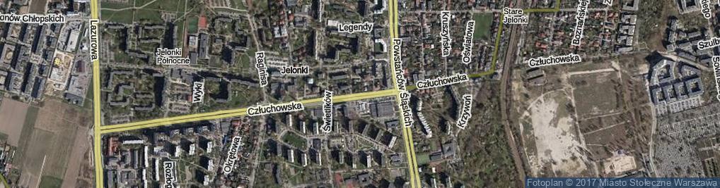Zdjęcie satelitarne Człuchowska