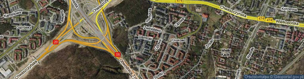 Zdjęcie satelitarne Damroki