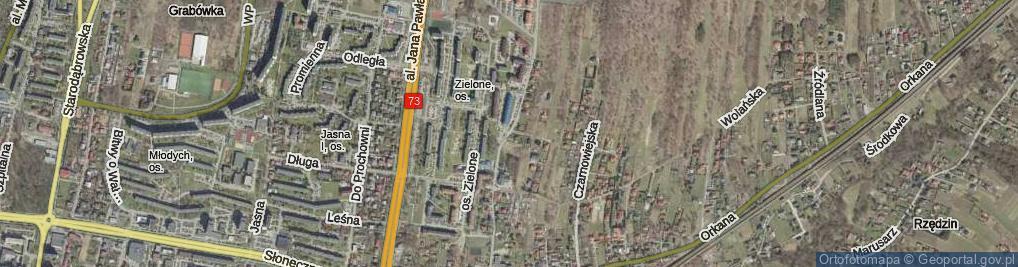 Zdjęcie satelitarne Dąbrowskiej Marii
