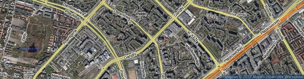 Zdjęcie satelitarne Dereniowa ul.