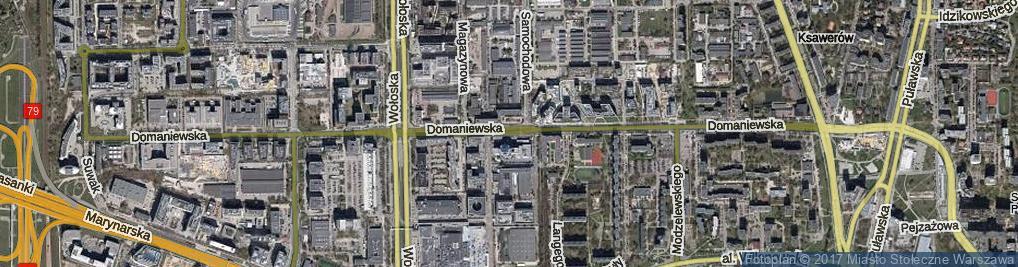 Zdjęcie satelitarne Domaniewska ul.