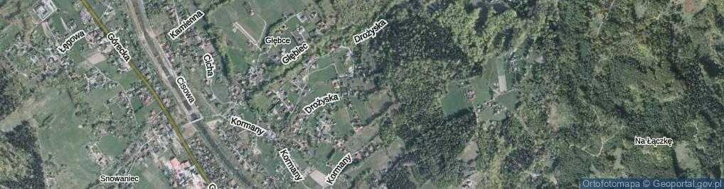 Zdjęcie satelitarne Drożyska ul.