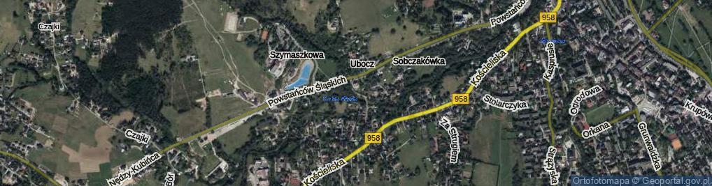 Zdjęcie satelitarne Droga do Rojów