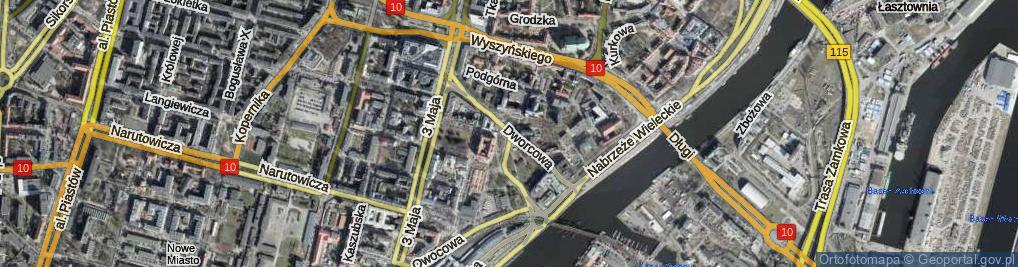 Zdjęcie satelitarne Dworcowa