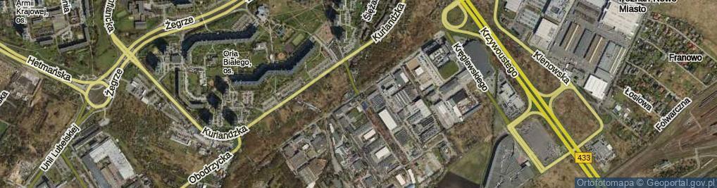 Zdjęcie satelitarne Dziadoszańska