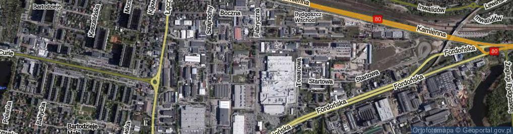 Zdjęcie satelitarne Fabryczna