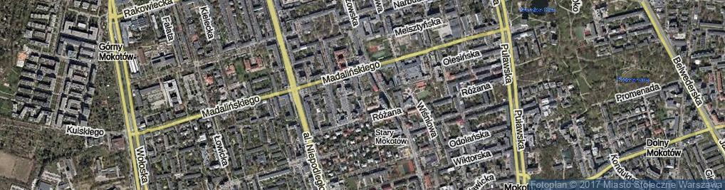 Zdjęcie satelitarne Falęcka