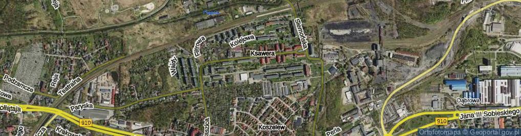 Zdjęcie satelitarne Franciszka Żwirki i Stanisława Wigury