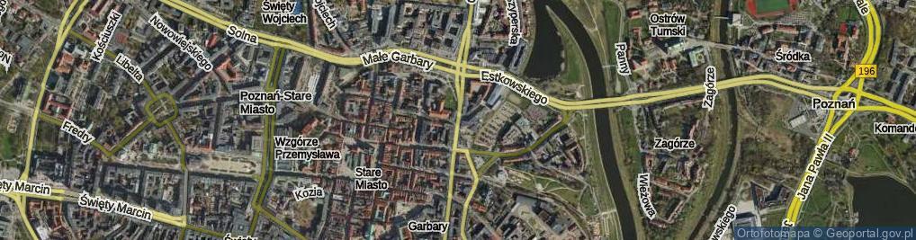 Zdjęcie satelitarne Garbary