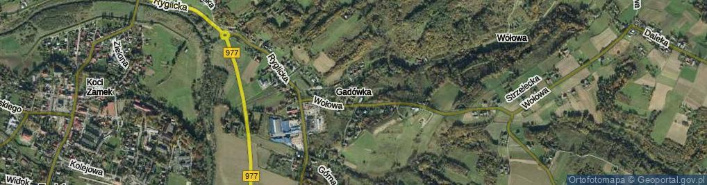 Zdjęcie satelitarne Gądówka