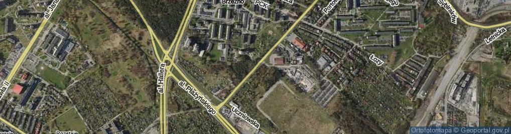 Zdjęcie satelitarne Gdańska