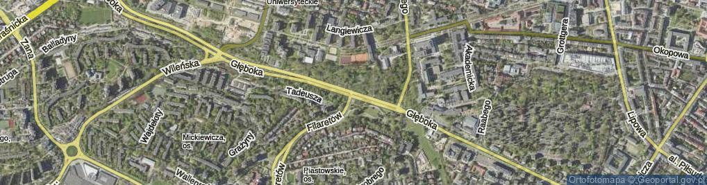 Zdjęcie satelitarne Głęboka