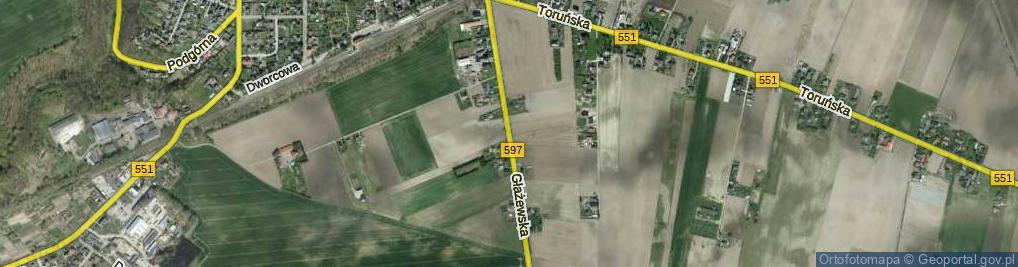 Zdjęcie satelitarne Głażewska