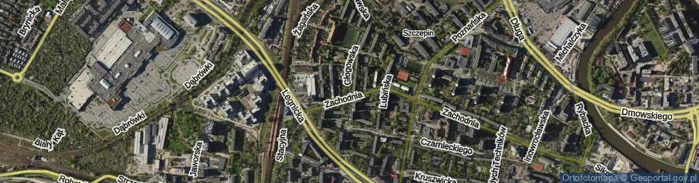 Zdjęcie satelitarne Głogowska