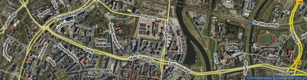 Zdjęcie satelitarne Grochowe Łąki ul.