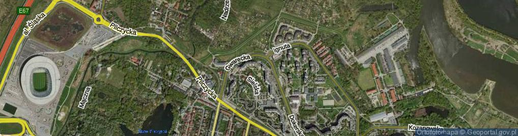 Zdjęcie satelitarne Gwarecka ul.