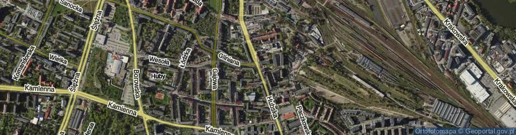 Zdjęcie satelitarne Hubska ul.