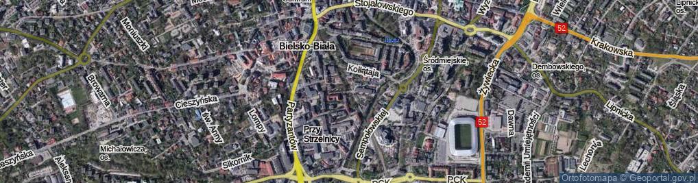 Zdjęcie satelitarne Inwalidów