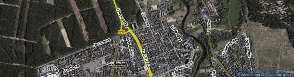 Zdjęcie satelitarne Jarmużowa ul.