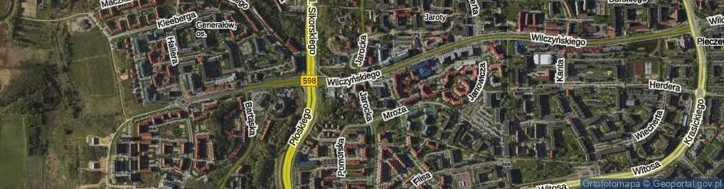 Zdjęcie satelitarne Jarocka ul.