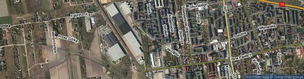 Zdjęcie satelitarne Jarząbka Kazimierza