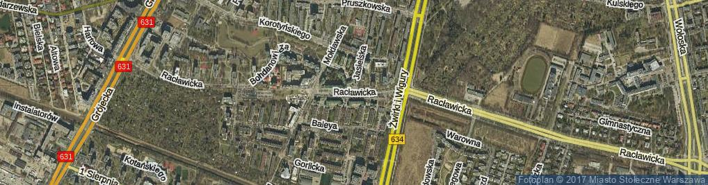 Zdjęcie satelitarne Jasielska ul.