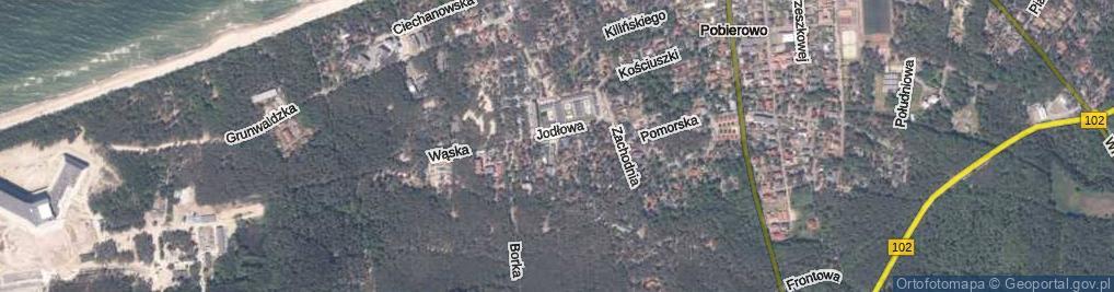 Zdjęcie satelitarne Jodłowa