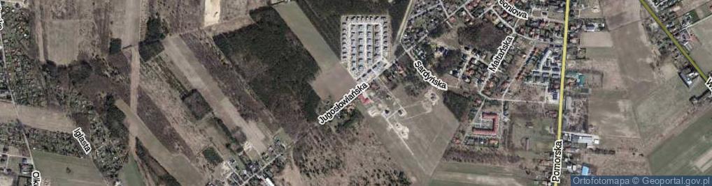 Zdjęcie satelitarne Jugosłowiańska ul.