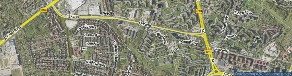 Zdjęcie satelitarne Kaczeńcowa ul.