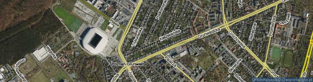 Zdjęcie satelitarne Kasztelańska ul.