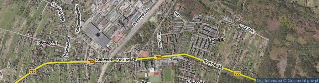 Zdjęcie satelitarne Klonowa ul.