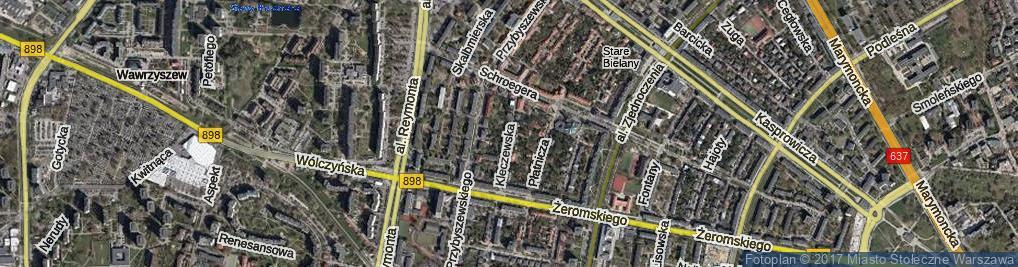 Zdjęcie satelitarne Kleczewska