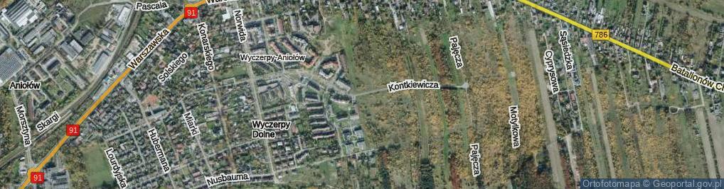 Zdjęcie satelitarne Kontkiewicza ul.