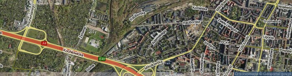 Zdjęcie satelitarne Koszarowa