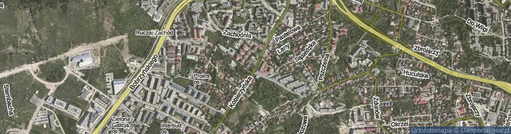 Zdjęcie satelitarne Kobierzyńska