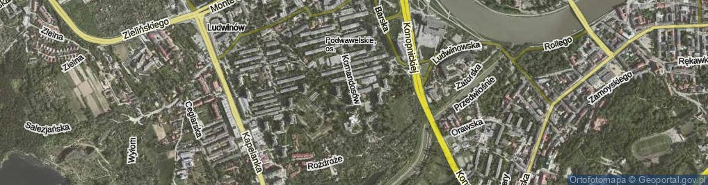 Zdjęcie satelitarne Komandosów ul.
