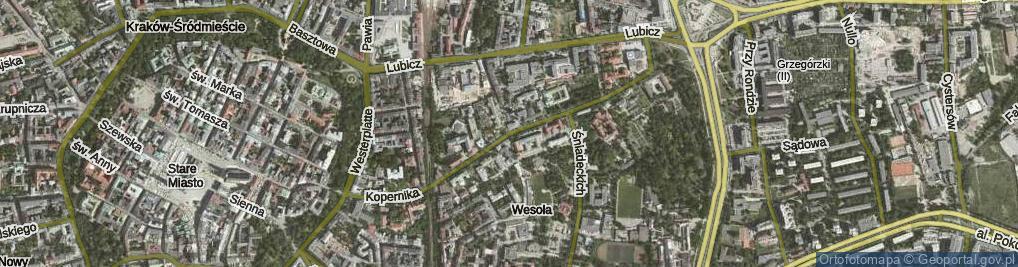 Zdjęcie satelitarne Kopernika Mikołaja