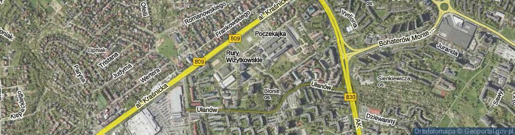 Zdjęcie satelitarne Konstantynów ul.