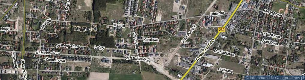 Zdjęcie satelitarne Koralowa ul.