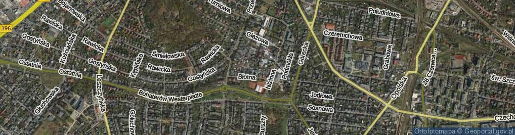 Zdjęcie satelitarne Korzenna
