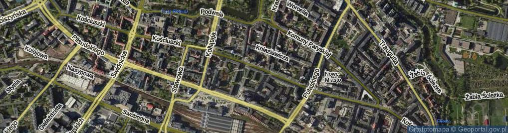 Zdjęcie satelitarne Kościuszki Tadeusza, gen.