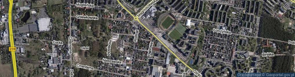 Zdjęcie satelitarne Krecia ul.
